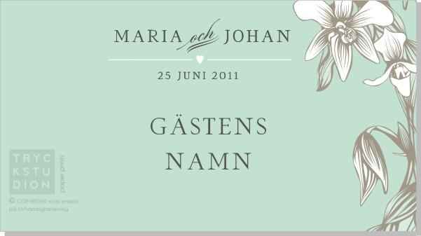 Printable Iris Placeringskort Namn