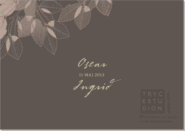 Printable Leaves Inbjudningskort