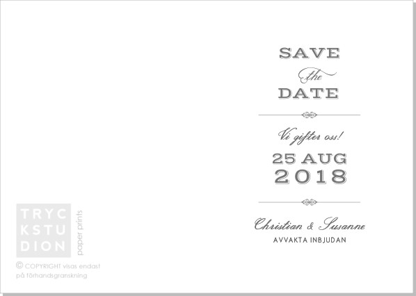 Printable Vintage Save the date + kuvert