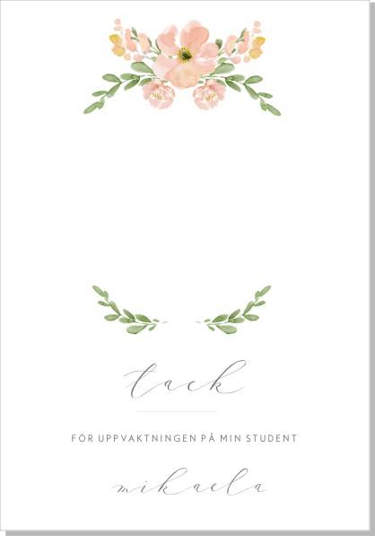 Printable Petunia Tackkort