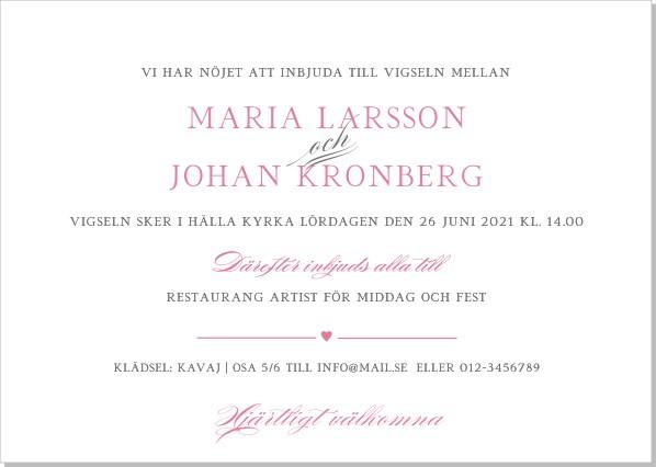 Printable Blooming Heart Inbjudningskort
