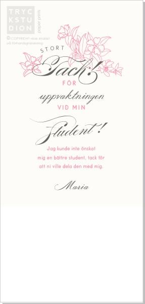 Printable Flowery Text Tackkort