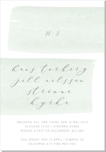 Printable Brush Inbjudningskort