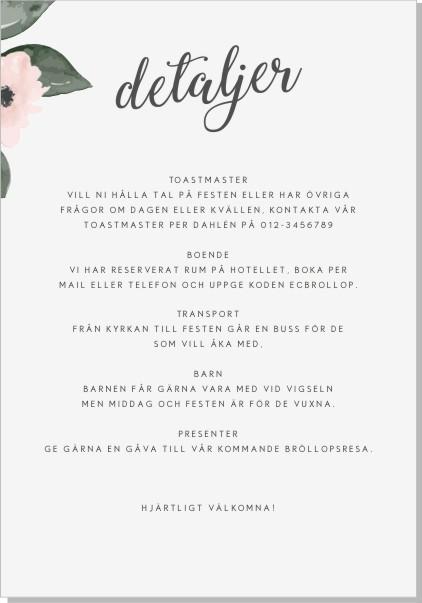 Printable Flora Inbjudningskort