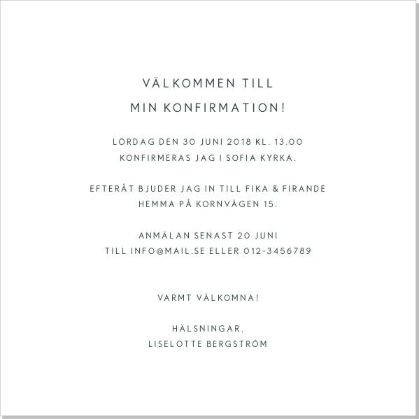 Printable Lily Inbjudningskort