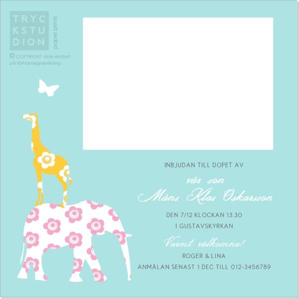 Printable Raffe Inbjudningskort