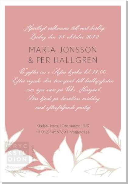 Printable Blanka Inbjudningskort
