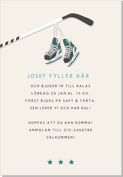 Printable Hockey Inbjudningskort