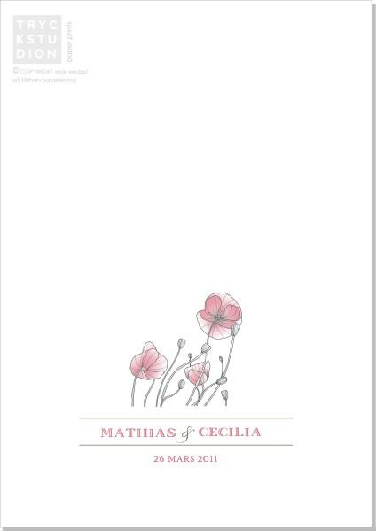 Printable Poppy Program A5