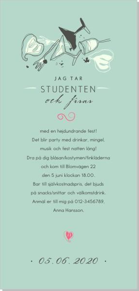 Printable Lets party Inbjudningskort