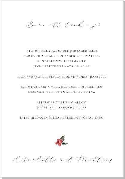 Printable Julros Inbjudningskort