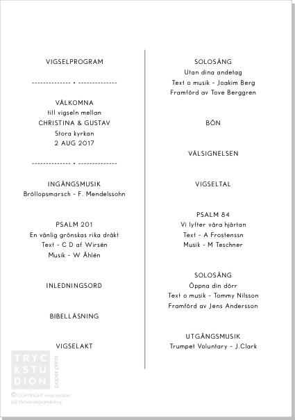 Printable Program A5 Insidestryck Modern