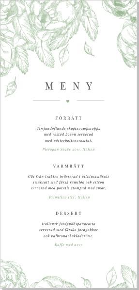 Printable Gardenia Meny