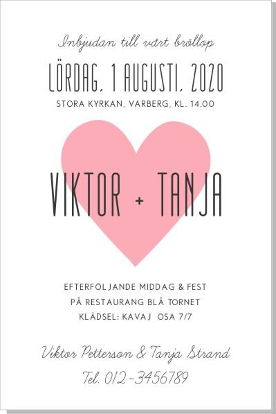 Printable Hjärta Inbjudningskort