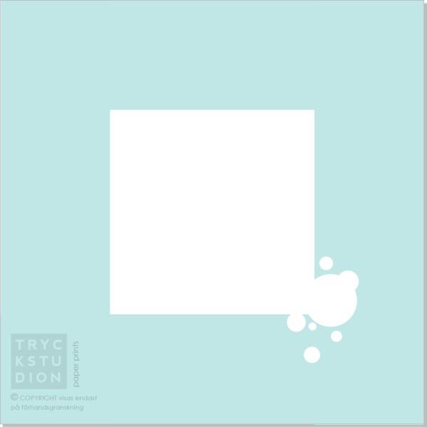 Printable Bubbles Inbjudningskort