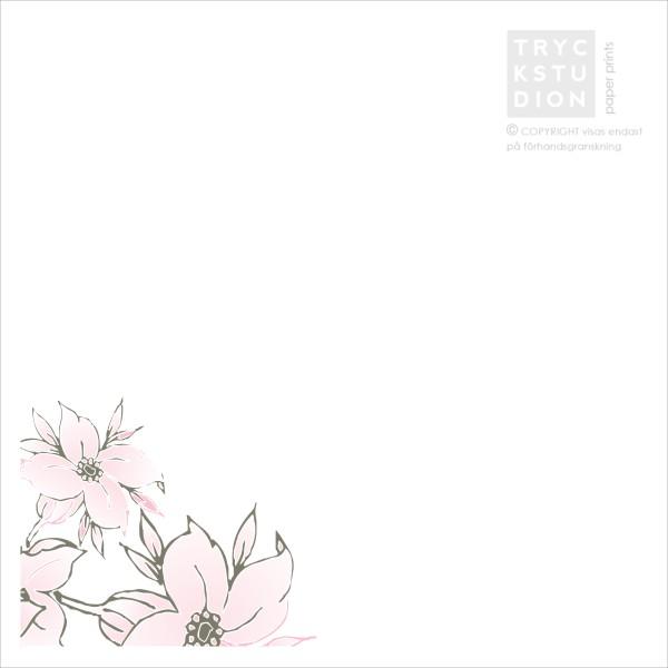 Printable Lulu Flowers Inbjudningskort