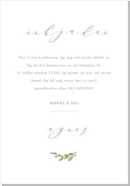 Printable Petunia Foto Inbjudningskort
