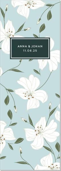 Printable Lily Program Stående