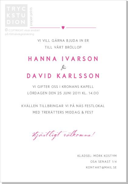 Printable Rose Inbjudningskort