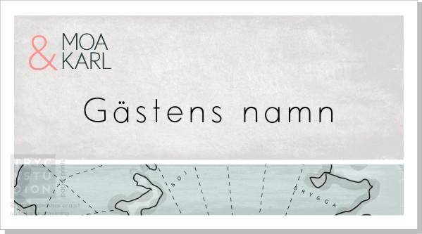 Printable Map Placeringskort Namn