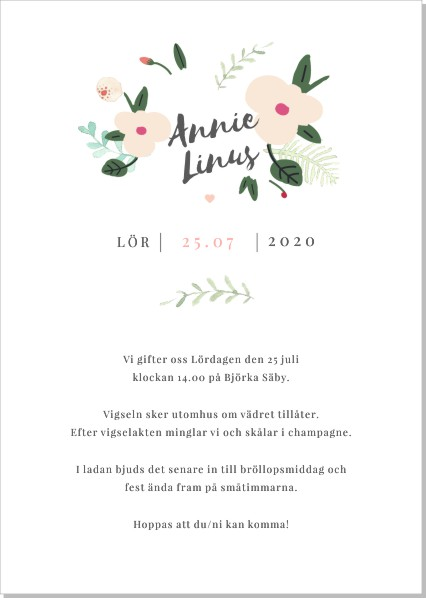 Printable Mira Inbjudningskort