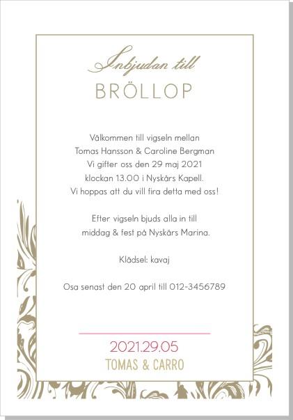 Printable Flowery Swirls Inbjudningskort