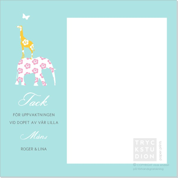 Printable Raffe Tackkort