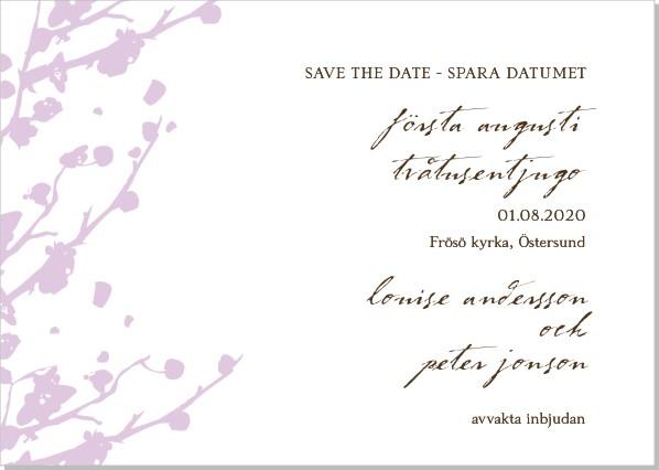Printable Springtime Save the date + kuvert