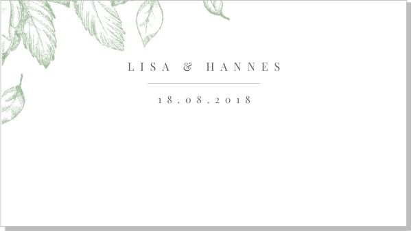 Printable Gardenia Placeringskort