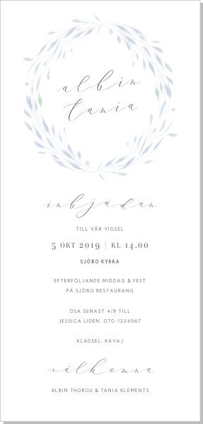 Printable Nova Inbjudningskort