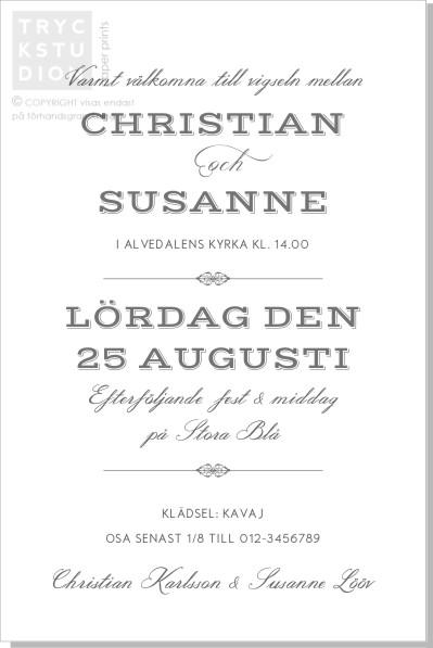 Printable Vintage Inbjudningskort