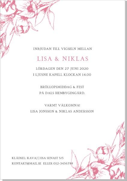 Printable Blooming Inbjudningskort