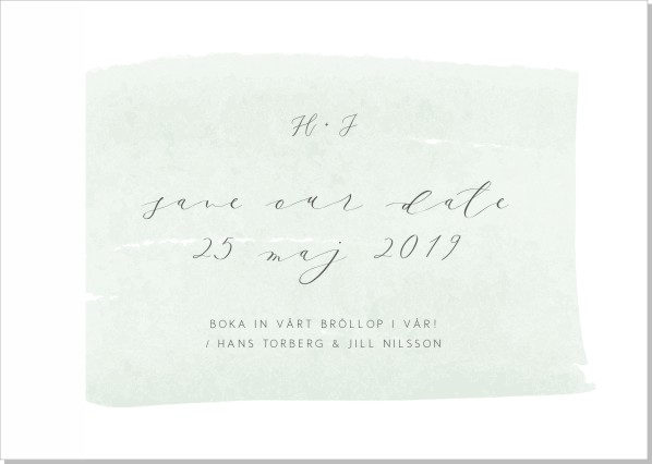 Printable Brush Save the date + kuvert