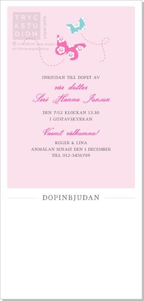 Printable Fjäril Inbjudningskort