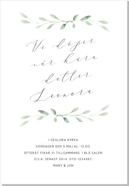 Printable Elise Inbjudningskort