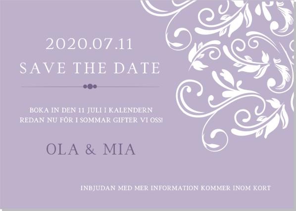 Printable Joy Save the date + kuvert