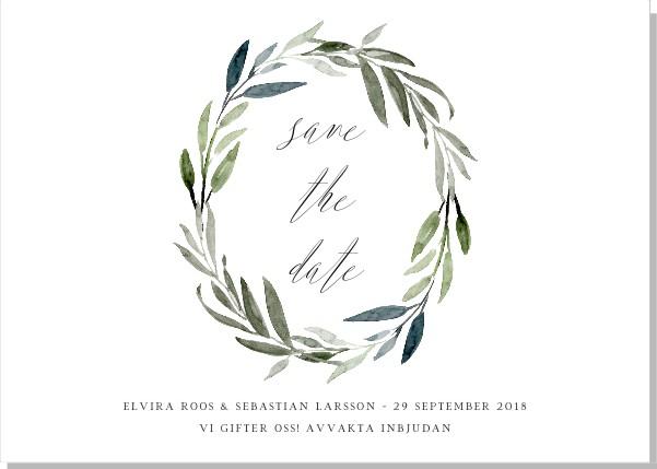 Printable Botanic Save the date + kuvert