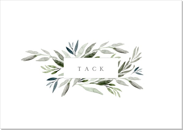 Printable Botanic Tackkort