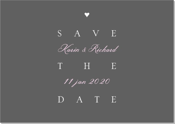 Printable Trend Save the date + kuvert
