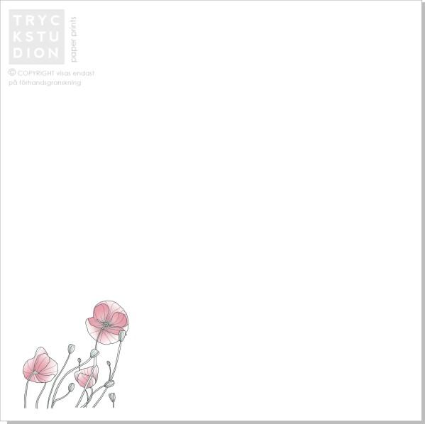 Printable Poppy Inbjudningskort