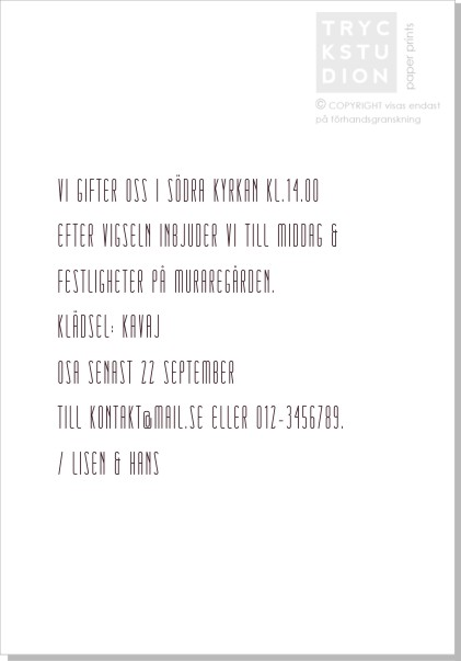 Printable Mist Inbjudningskort