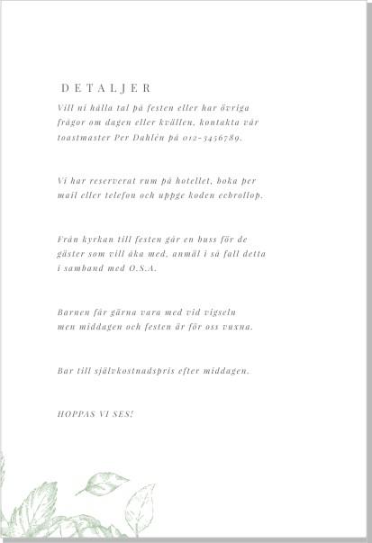Printable Gardenia Inbjudningskort