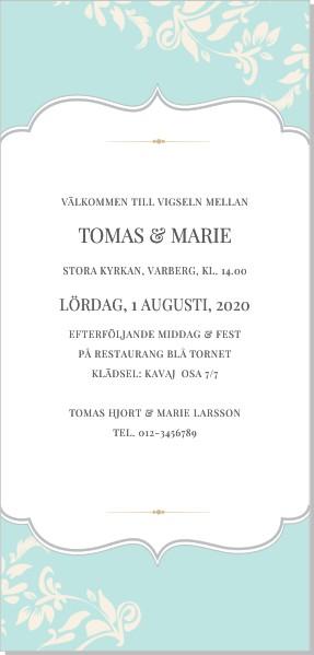 Printable Goldleaf Inbjudningskort